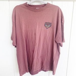 QUIKSILVER Vintage Red Mock Neck T-Shirt XL